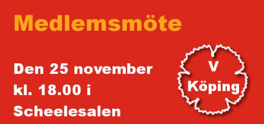 Medlemsmöte 25/11 2014