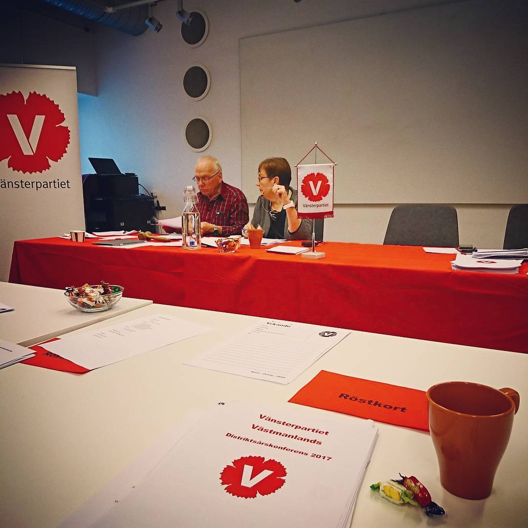Distriktsrskonferens idag fr Vnsterpartiet Vstmanland! vnsterpartietvstmanland vnsterpartietkping vnsterpartiet